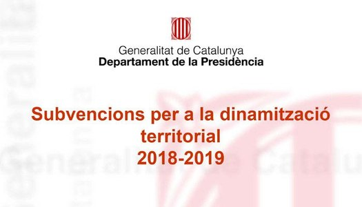 17 municipis de la Segarra subvencionats amb els ajuts del Pla de Dinamització Territorial de la Generalitat de Catalunya