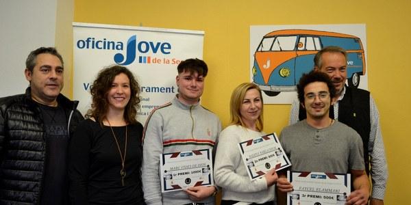 3 premiats en la 17a edició del Premi d'Emprenedoria Jove