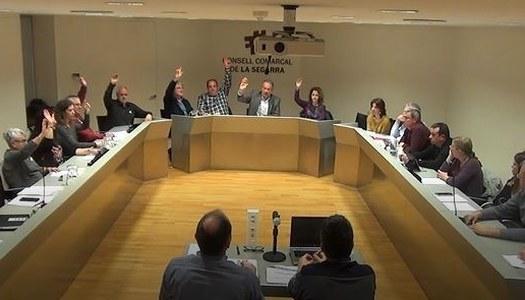 Aprovat el pressupost del Consell Comarcal de la Segarra, que oscil·la a 8 milions d'euros.
