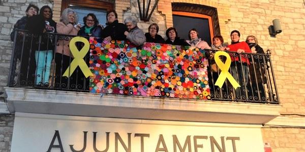 Cloenda del Projecte Espais per la Dona a Sant Guim de Freixenet, on es va dur a terme el taller de llanateràpia decorativa