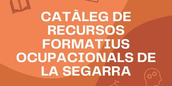 Imatge de la portada del catàleg de recursos formatius ocupacionals de la Segarra