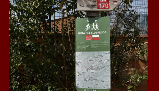 El GR-170 de la Vall del Llobregós renova la senyalització per incloure les noves variants homologades per la Federació d'Entitats Excursionistes de Catalunya.