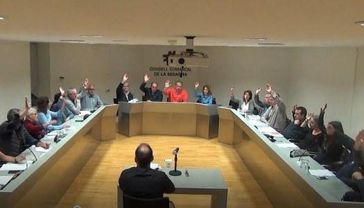 El Ple del Consell Comarcal de la Segarra aprova la moció per a la millora de la seguretat viària i la prevenció de la sinistralitat a l'autovia A-2
