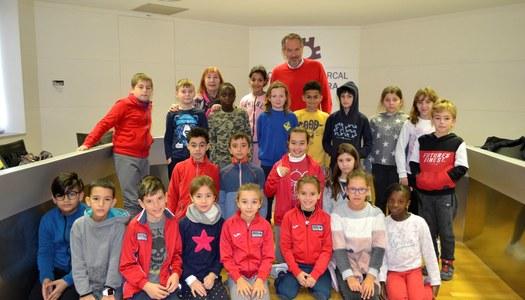 Els alumnes de 4t de l'escola Ramon Faus i Esteve de Guissona visiten el Consell Comarcal.