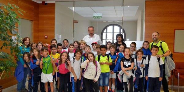 Visita escola l'Estel de Sant Guim de Freixenet al Consell Comarcal