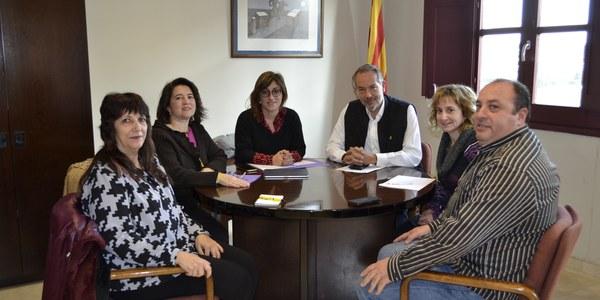 L'equip de Govern del Consell Comarcal de la Segarra rep a la Diputada provincial Helena Martínez