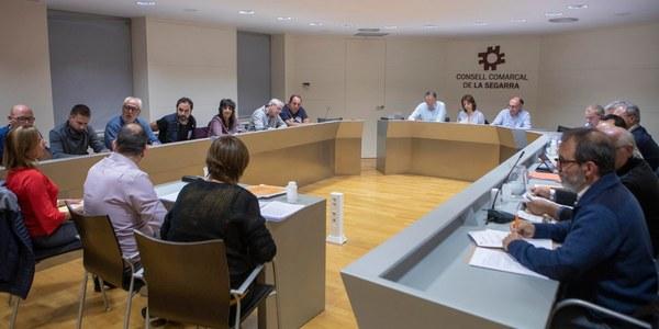 Fotografia de la Sala de Plens del Consell Comarcal.