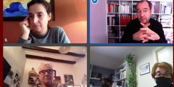 Fotografia del moment de la reunió telemàtica.