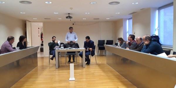 Reunió al Consell Comarcal de la Segarra entre ajuntaments de la comarca per consensuar sobre la resolució dels ajuts FEDER